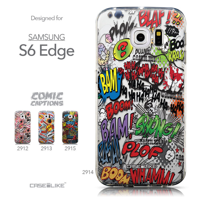 Collection - CASEiLIKE Samsung Galaxy S6 Edge back cover Comic Captions 2914