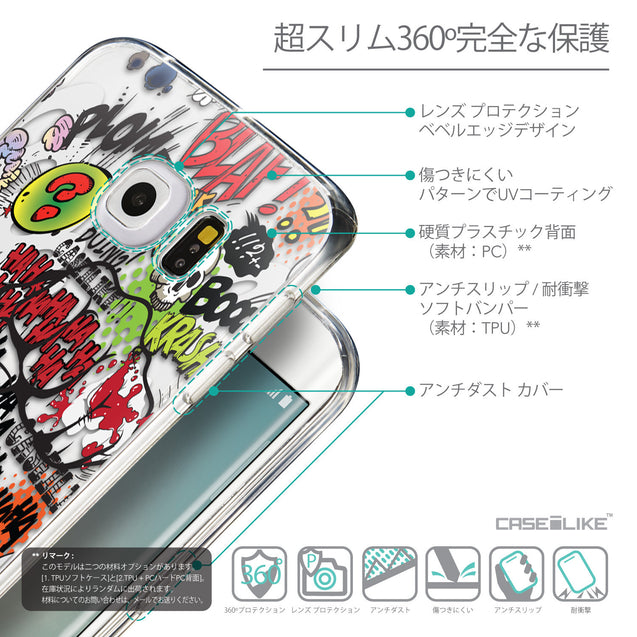 Details in Japanese - CASEiLIKE Samsung Galaxy S6 Edge back cover Comic Captions 2914