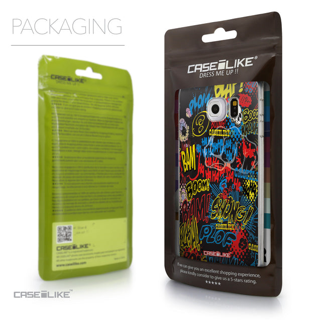Packaging - CASEiLIKE Samsung Galaxy S6 Edge back cover Comic Captions Black 2915
