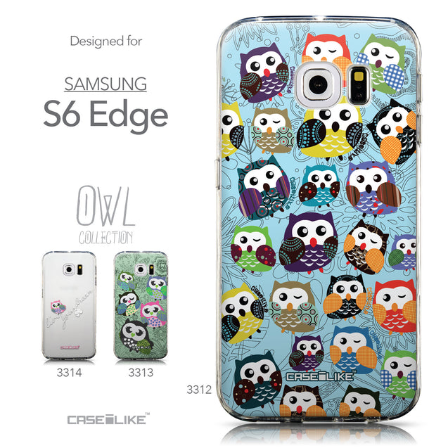 Collection - CASEiLIKE Samsung Galaxy S6 Edge back cover Owl Graphic Design 3312