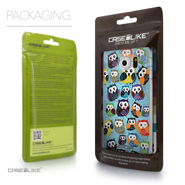 Packaging - CASEiLIKE Samsung Galaxy S6 Edge back cover Owl Graphic Design 3312