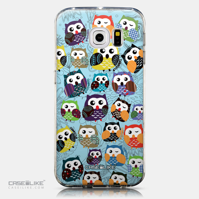 CASEiLIKE Samsung Galaxy S6 Edge back cover Owl Graphic Design 3312