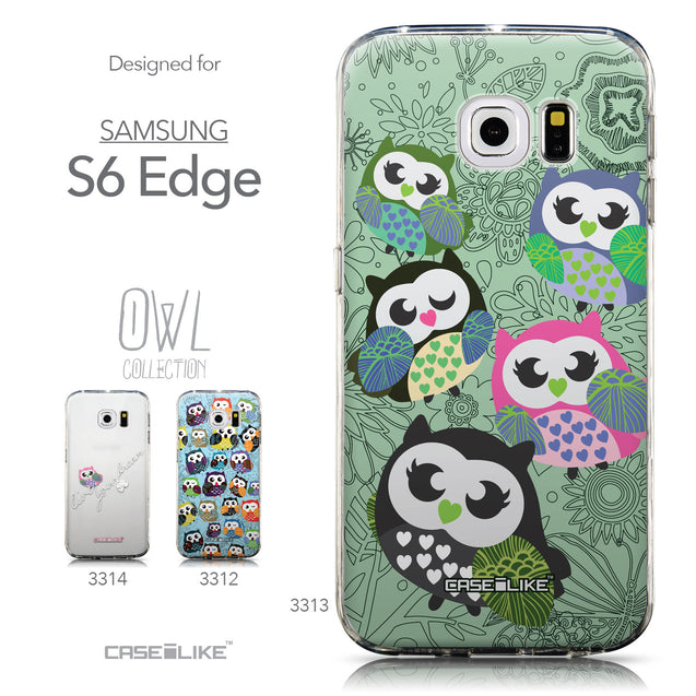Collection - CASEiLIKE Samsung Galaxy S6 Edge back cover Owl Graphic Design 3313