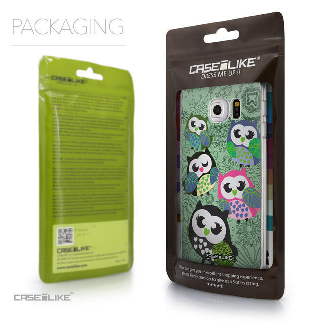 Packaging - CASEiLIKE Samsung Galaxy S6 Edge back cover Owl Graphic Design 3313