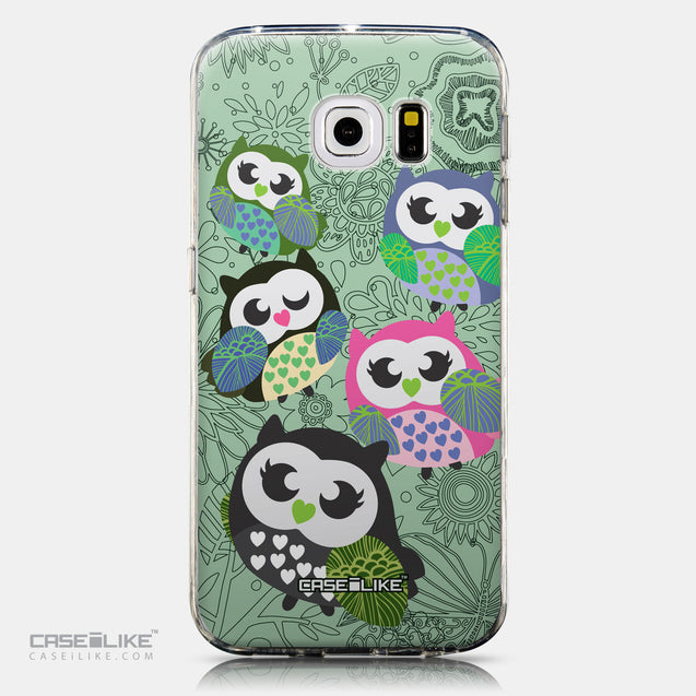 CASEiLIKE Samsung Galaxy S6 Edge back cover Owl Graphic Design 3313