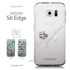 Collection - CASEiLIKE Samsung Galaxy S6 Edge back cover Owl Graphic Design 3314