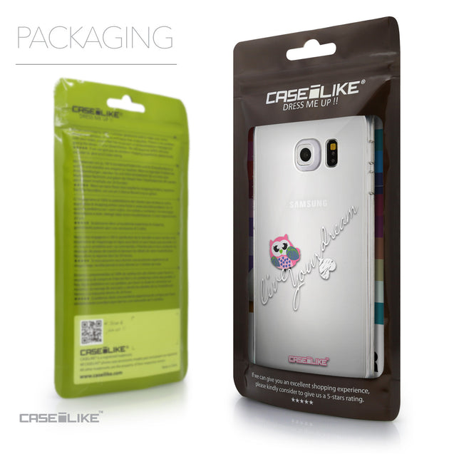 Packaging - CASEiLIKE Samsung Galaxy S6 Edge back cover Owl Graphic Design 3314