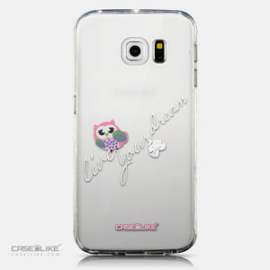 CASEiLIKE Samsung Galaxy S6 Edge back cover Owl Graphic Design 3314