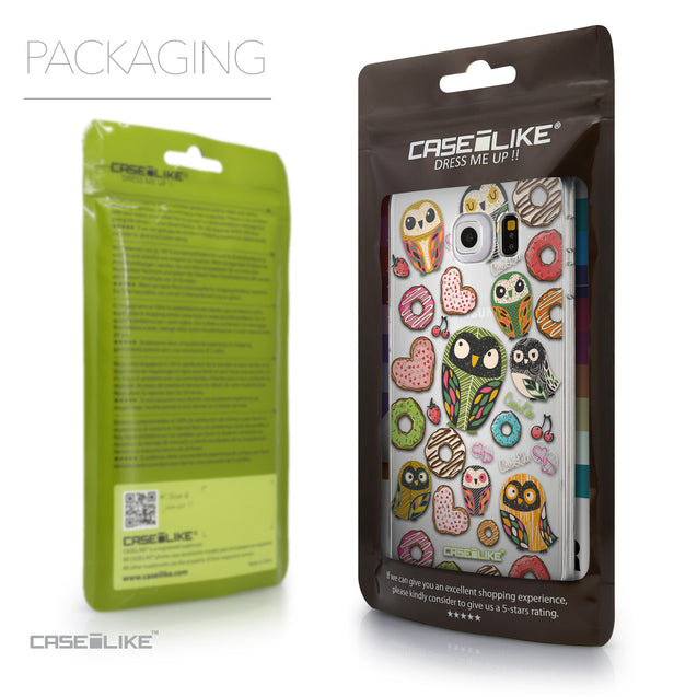 Packaging - CASEiLIKE Samsung Galaxy S6 Edge back cover Owl Graphic Design 3315