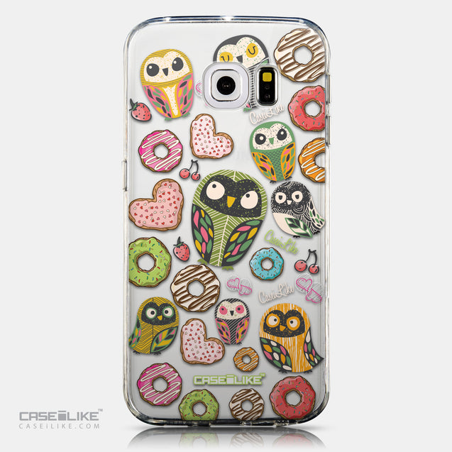 CASEiLIKE Samsung Galaxy S6 Edge back cover Owl Graphic Design 3315