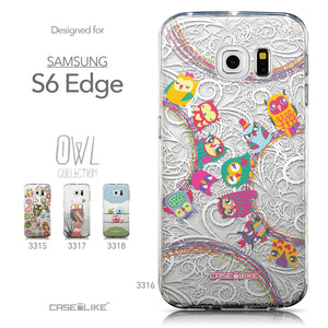 Collection - CASEiLIKE Samsung Galaxy S6 Edge back cover Owl Graphic Design 3316