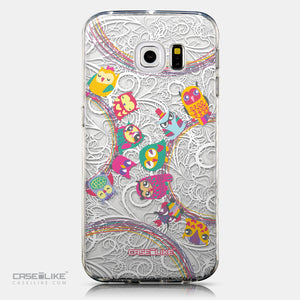 CASEiLIKE Samsung Galaxy S6 Edge back cover Owl Graphic Design 3316