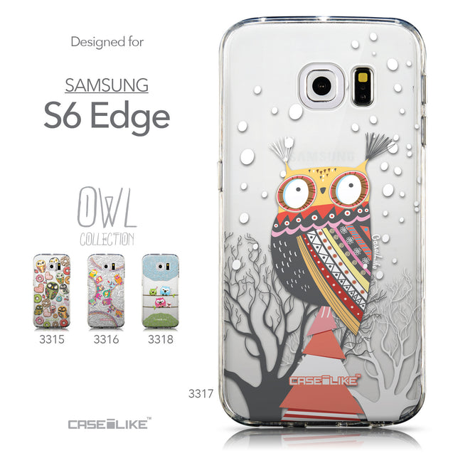 Collection - CASEiLIKE Samsung Galaxy S6 Edge back cover Owl Graphic Design 3317
