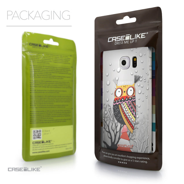 Packaging - CASEiLIKE Samsung Galaxy S6 Edge back cover Owl Graphic Design 3317