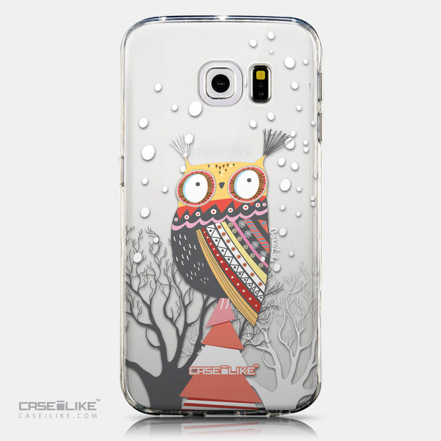 CASEiLIKE Samsung Galaxy S6 Edge back cover Owl Graphic Design 3317