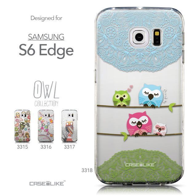 Collection - CASEiLIKE Samsung Galaxy S6 Edge back cover Owl Graphic Design 3318