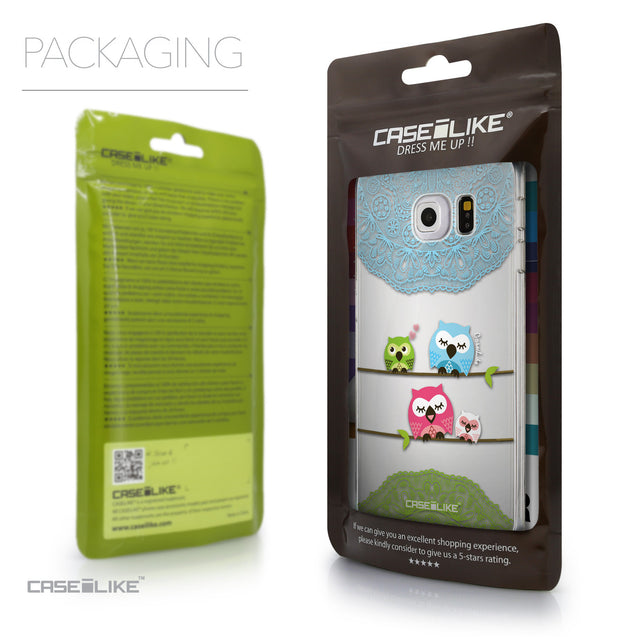 Packaging - CASEiLIKE Samsung Galaxy S6 Edge back cover Owl Graphic Design 3318
