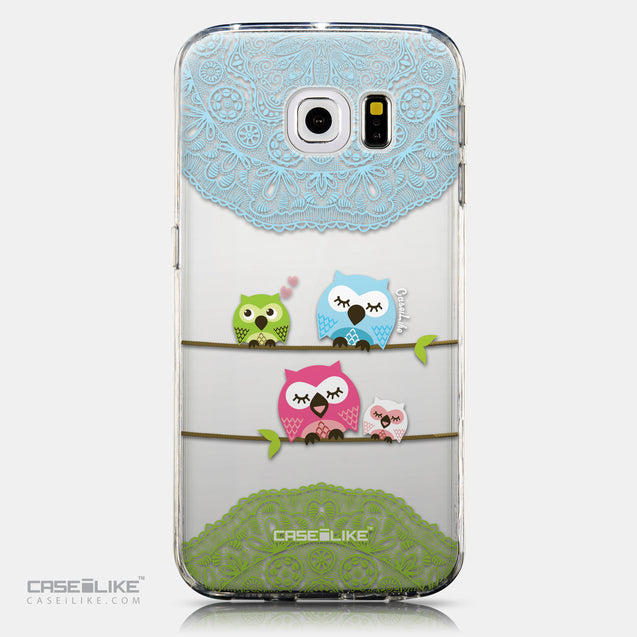 CASEiLIKE Samsung Galaxy S6 Edge back cover Owl Graphic Design 3318
