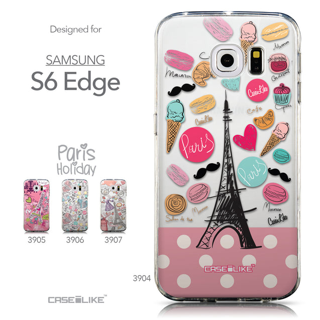 Collection - CASEiLIKE Samsung Galaxy S6 Edge back cover Paris Holiday 3904