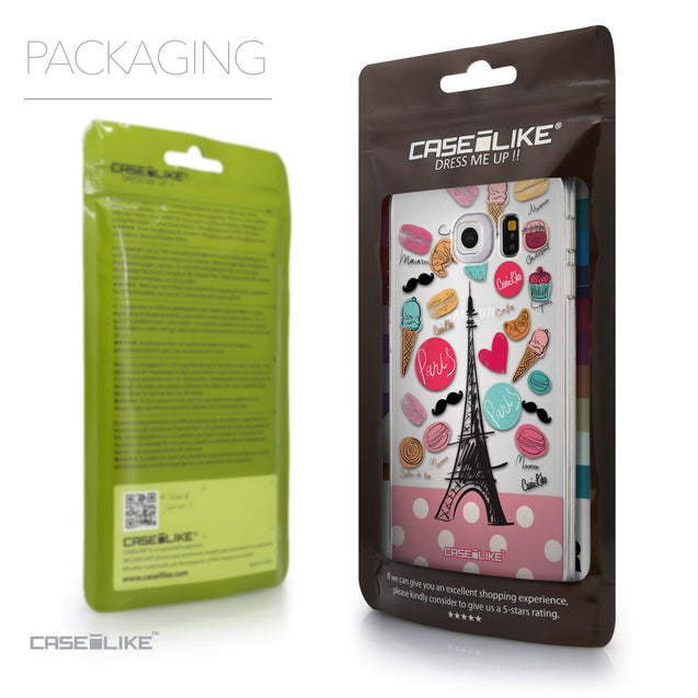 Packaging - CASEiLIKE Samsung Galaxy S6 Edge back cover Paris Holiday 3904