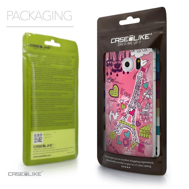 Packaging - CASEiLIKE Samsung Galaxy S6 Edge back cover Paris Holiday 3905