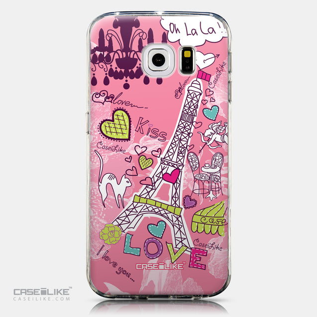 CASEiLIKE Samsung Galaxy S6 Edge back cover Paris Holiday 3905