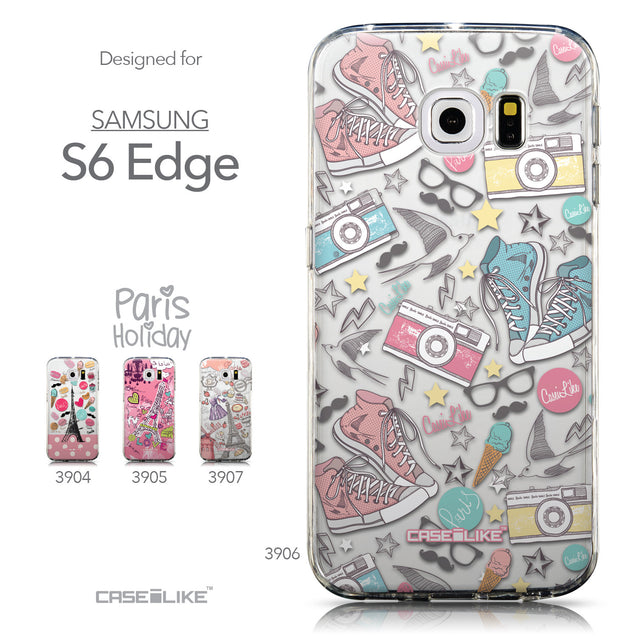 Collection - CASEiLIKE Samsung Galaxy S6 Edge back cover Paris Holiday 3906