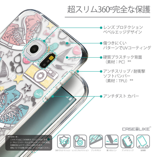 Details in Japanese - CASEiLIKE Samsung Galaxy S6 Edge back cover Paris Holiday 3906