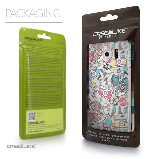 Packaging - CASEiLIKE Samsung Galaxy S6 Edge back cover Paris Holiday 3906