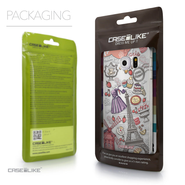 Packaging - CASEiLIKE Samsung Galaxy S6 Edge back cover Paris Holiday 3907