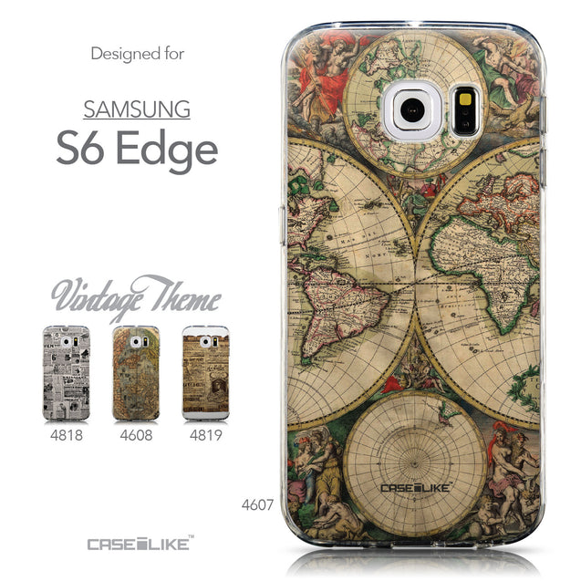 Collection - CASEiLIKE Samsung Galaxy S6 Edge back cover World Map Vintage 4607