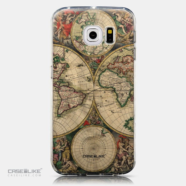 CASEiLIKE Samsung Galaxy S6 Edge back cover World Map Vintage 4607