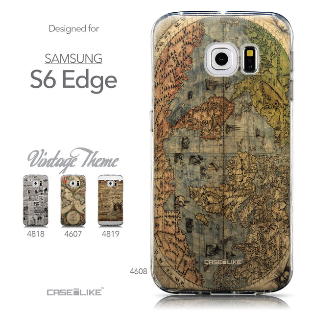 Collection - CASEiLIKE Samsung Galaxy S6 Edge back cover World Map Vintage 4608