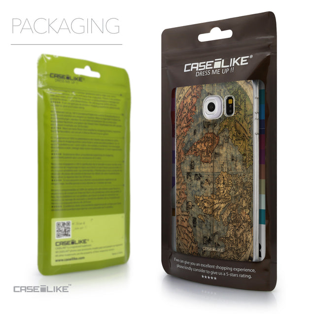Packaging - CASEiLIKE Samsung Galaxy S6 Edge back cover World Map Vintage 4608