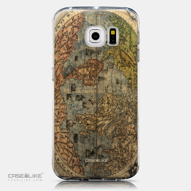CASEiLIKE Samsung Galaxy S6 Edge back cover World Map Vintage 4608