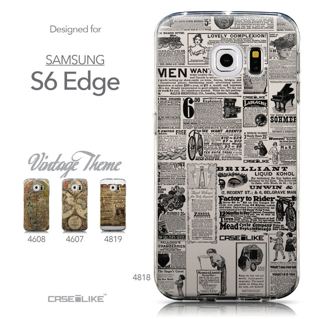 Collection - CASEiLIKE Samsung Galaxy S6 Edge back cover Vintage Newspaper Advertising 4818
