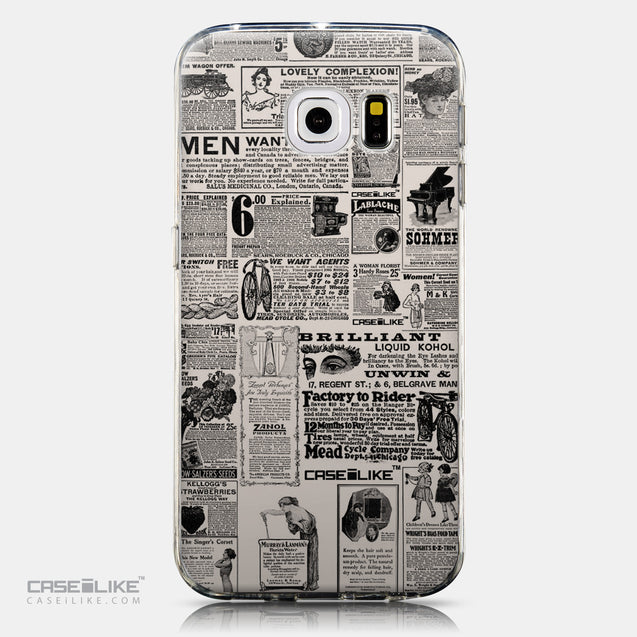CASEiLIKE Samsung Galaxy S6 Edge back cover Vintage Newspaper Advertising 4818