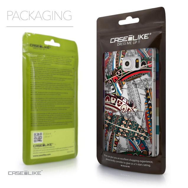 Packaging - CASEiLIKE Samsung Galaxy S6 Edge Plus back cover Indian Tribal Theme Pattern 2055