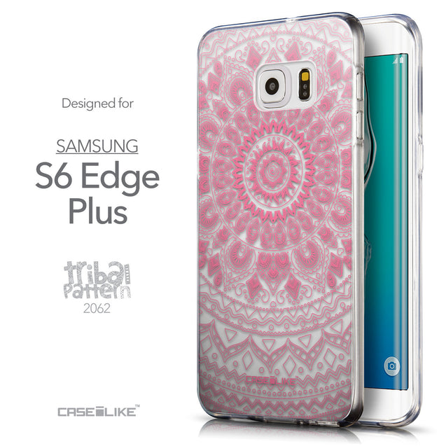 Front & Side View - CASEiLIKE Samsung Galaxy S6 Edge Plus back cover Indian Line Art 2062