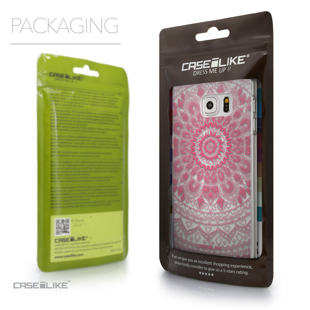 Packaging - CASEiLIKE Samsung Galaxy S6 Edge Plus back cover Indian Line Art 2062