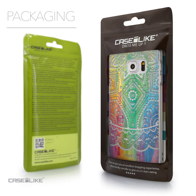 Packaging - CASEiLIKE Samsung Galaxy S6 Edge Plus back cover Indian Line Art 2064