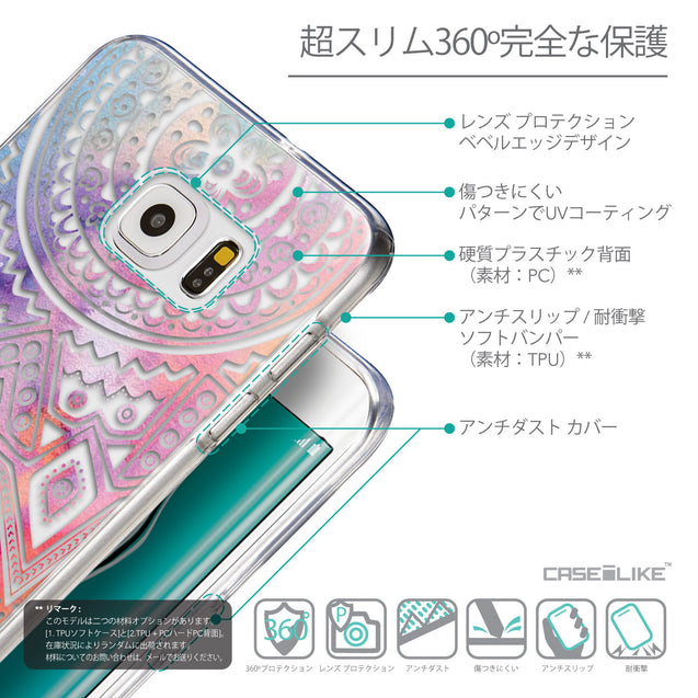Details in Japanese - CASEiLIKE Samsung Galaxy S6 Edge Plus back cover Indian Line Art 2065