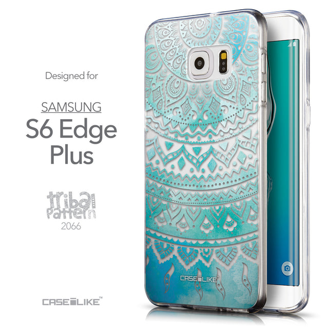 Front & Side View - CASEiLIKE Samsung Galaxy S6 Edge Plus back cover Indian Line Art 2066