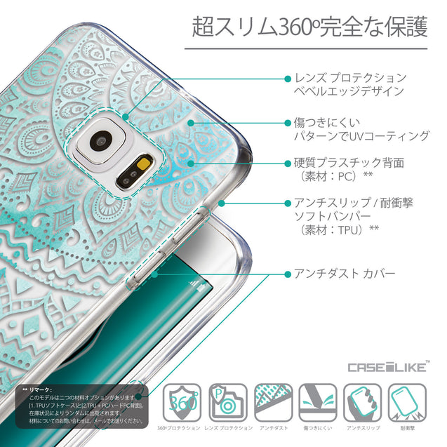 Details in Japanese - CASEiLIKE Samsung Galaxy S6 Edge Plus back cover Indian Line Art 2066