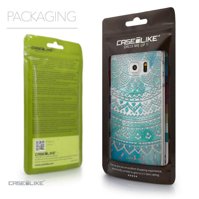 Packaging - CASEiLIKE Samsung Galaxy S6 Edge Plus back cover Indian Line Art 2066
