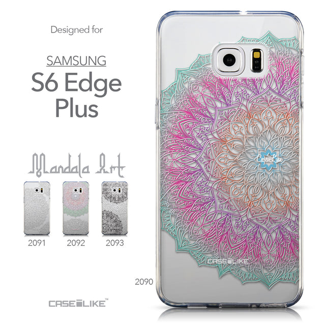 Collection - CASEiLIKE Samsung Galaxy S6 Edge Plus back cover Mandala Art 2090