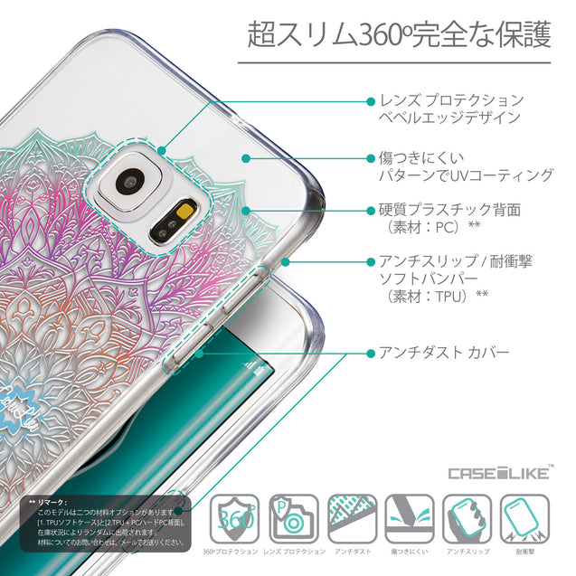 Details in Japanese - CASEiLIKE Samsung Galaxy S6 Edge Plus back cover Mandala Art 2090