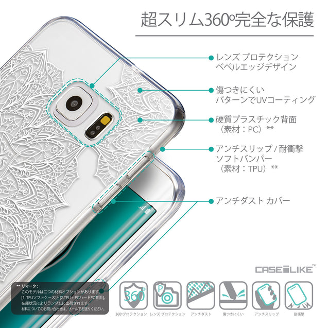 Details in Japanese - CASEiLIKE Samsung Galaxy S6 Edge Plus back cover Mandala Art 2091