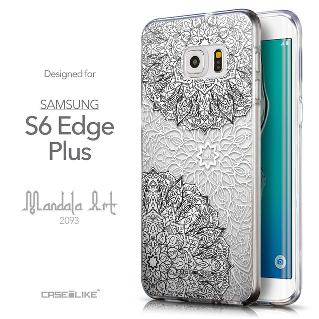 Front & Side View - CASEiLIKE Samsung Galaxy S6 Edge Plus back cover Mandala Art 2093