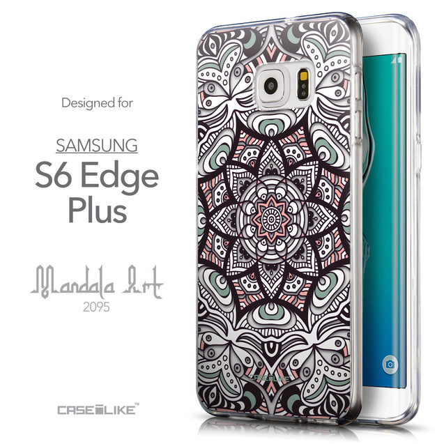Front & Side View - CASEiLIKE Samsung Galaxy S6 Edge Plus back cover Mandala Art 2095